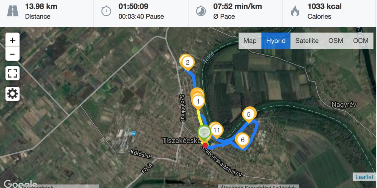 Félmaraton felkészülés – 68. nap